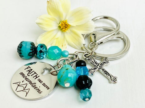 #6 faith can move mountains keychains inexpensive christian gifts for women