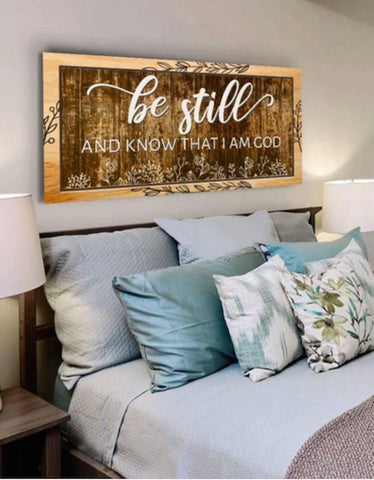 Be still and know I am god sign Christian baptism gifts