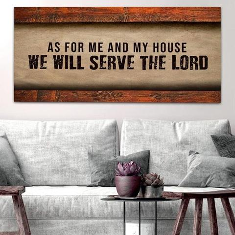 #7 As for My House and We Will Serve the Lord wall art House Blessing Gifts Ideas (Christian Themed)