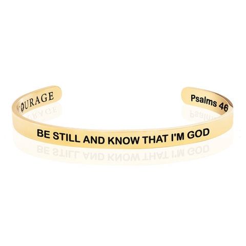 7 Be still and know that I am God Bracelet Christian bridesmaid gifts