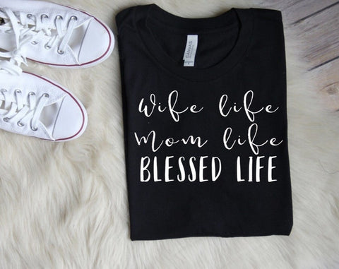 #7 blessed mom life tshirt christian gifts for new mom dad expecting parents