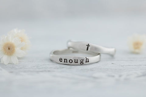 #7 i am enough affirmation ring inexpensive christian gifts for women