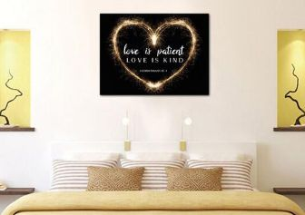 #7 love is patient love is kind Christian christmas gifts for wife
