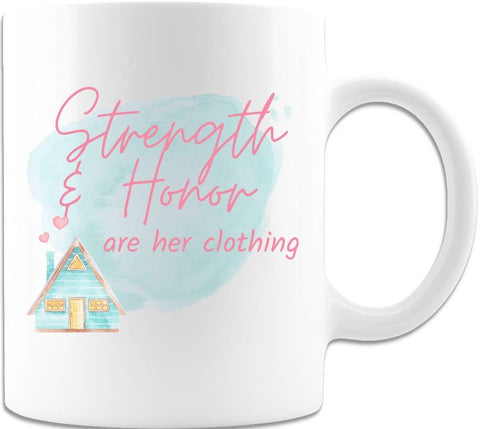 #7 strength and honor are her clothing christian gifts for mom
