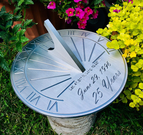 #8 Engraved sundial Christian 25th Wedding Anniversary Gifts