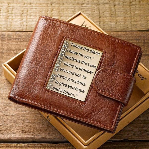 #8 jeremiah 29 11 wallet Christian Anniversary Gift for Husband