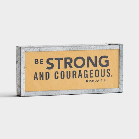 #8 joshua 1 9 be strong and courageous mini tabletop gifts for christian college students