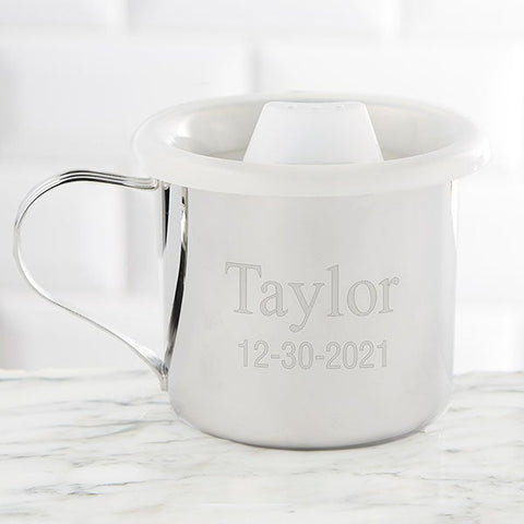 #8 silver cup  Christian personalized baby gifts