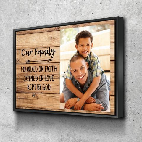 christian fathers day canvas wall art