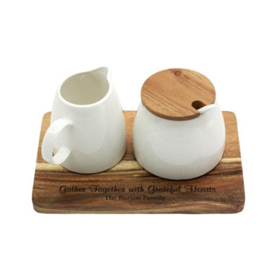 #9 Personalized, Creamer & Sugar Bowl Set House Blessing Gifts Ideas (Christian Themed)