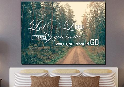 #9 let-the-lord-direct-you-in-the-way-you-should-go-canvas-wall-art-print-christian gifts for teenage girl