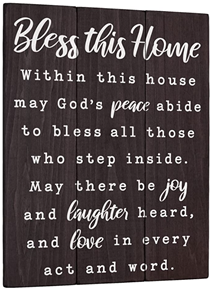 Bless this Home plaque christian marriage gift