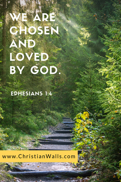 Ephesians 1 4 We are chosen and loved by God picture print poster bible verse