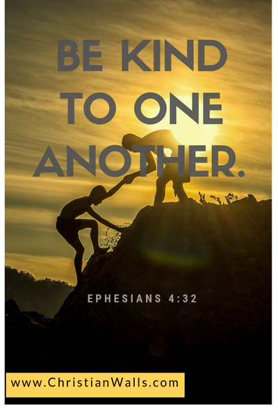 Ephesians 4 32 Be kind to one another picture print poster bible verse