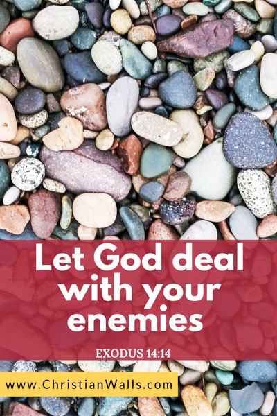 Exodus 14 14 Let God deal with your enemies picture print poster bible verse