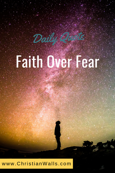 Faith over fear picture print poster christian quote