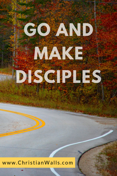Go and make disciples picture print poster christian quote