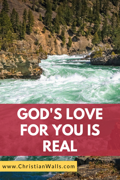 God's love for you is real picture print poster christian quote