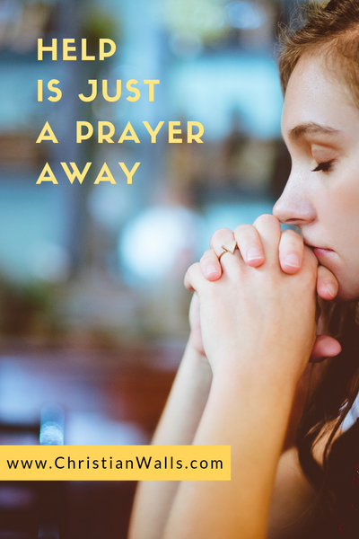 Help is just a prayer away picture print poster christian quote