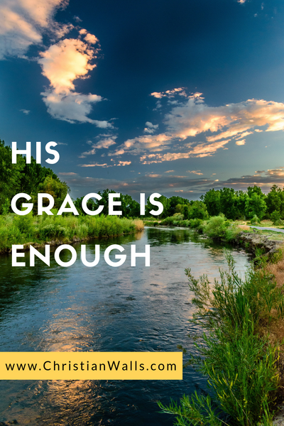 His grace is enough picture print poster christian quote