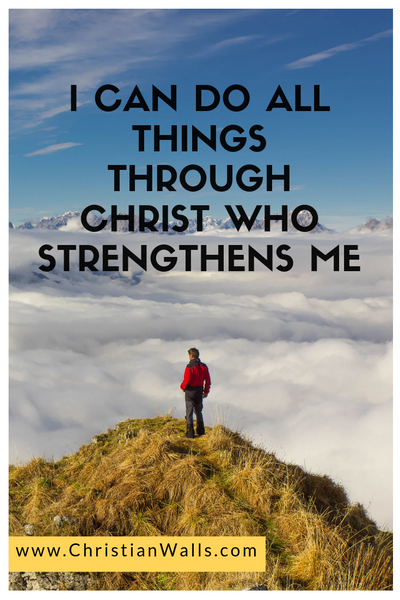 I can do all things through Christ who strengthen me picture print poster christian quote
