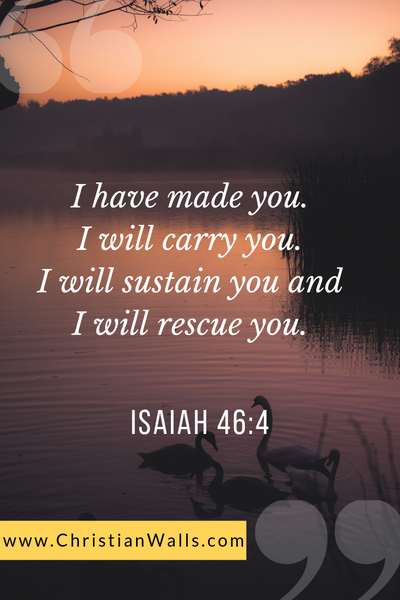 Isaiah 46 4 I have made you I will carry you I will sustain you and I will rescue you picture print poster bible verse