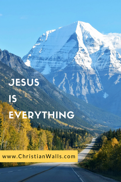 Jesus is everything picture print poster christian quote