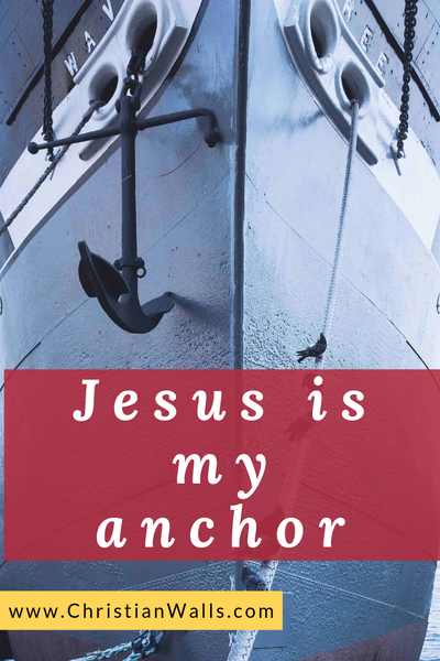 Jesus is my anchor picture print poster christian quote