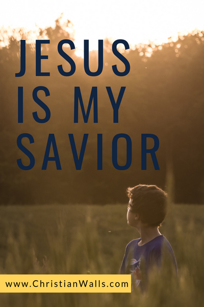 Jesus is my savior picture print poster christian quote