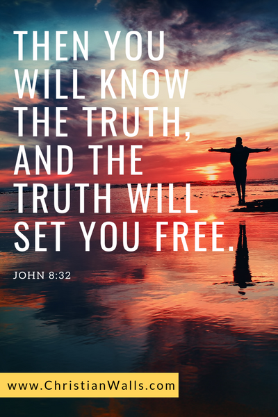 John 8 32 Then you will know the truth, and the truth will set you free picture print poster bible verse