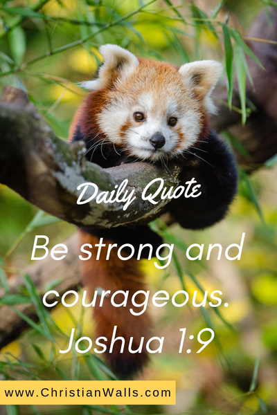 Joshua 1 9 Be strong and courageous picture print poster bible verse