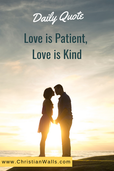 Love is patient, love is kind picture print poster christian quote