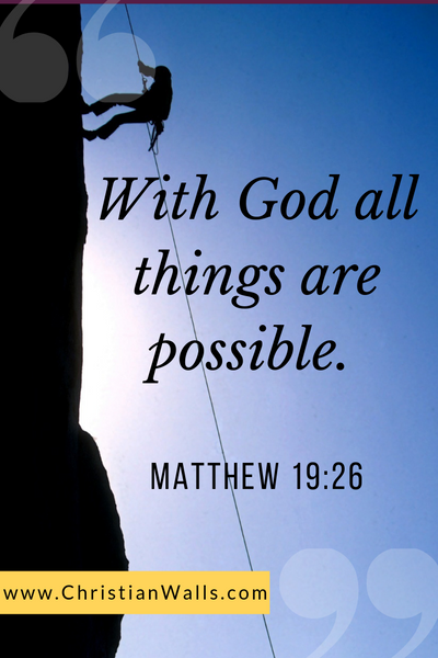 Matthew 19 26 With God all things are possible picture print poster bible verse