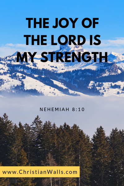 Nehemiah 8 10 The joy of the Lord is my strength picture print poster bible verse