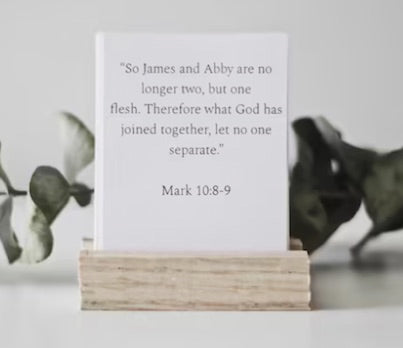Personalized Marriage Scripture Cards gifts for christian couples
