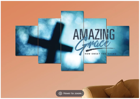 amazing grace canvas in living room