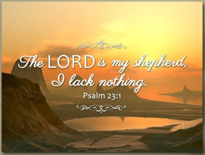 The lord is my shephard 1 panel canvas