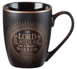 The Lord is with me Matte Black Coffee Mug