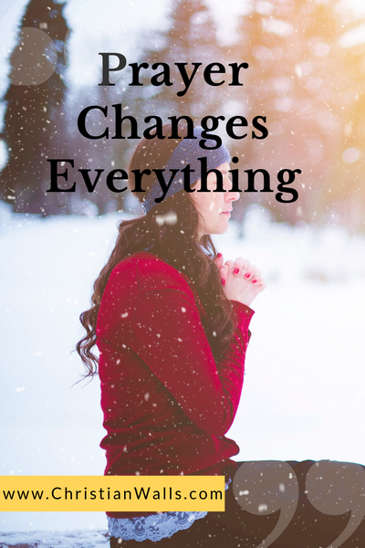 Prayer changes everything picture print poster christian quote