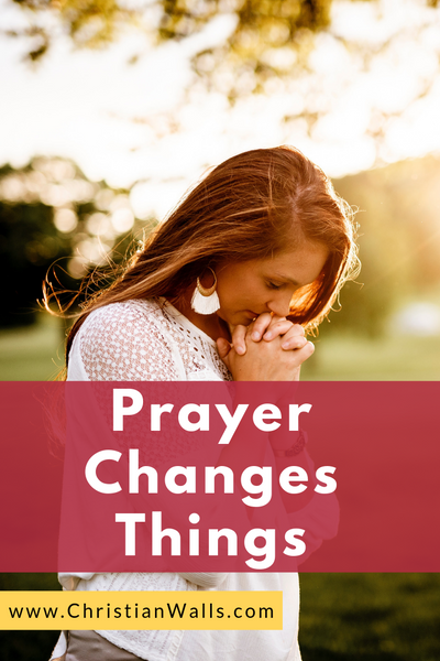 Prayer changes things picture print poster christian quote