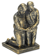 Praying Husband and Wife 5 inch Grey Resin Stone Table Figurine