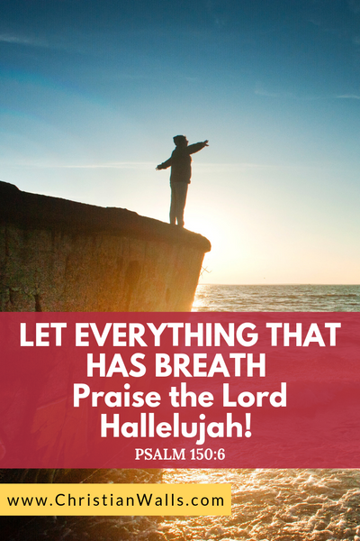 Psalm 150 6 Let everything that has breath praise the Lord hallelujah picture print poster bible verse