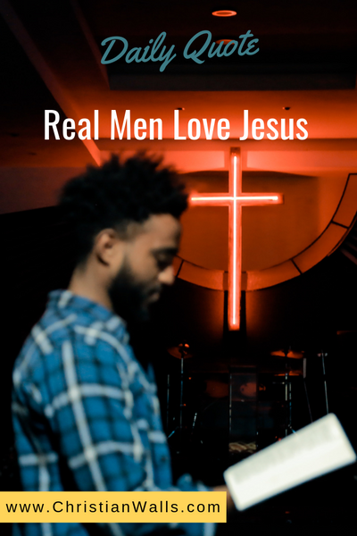 Real men love Jesus picture print poster christian quote