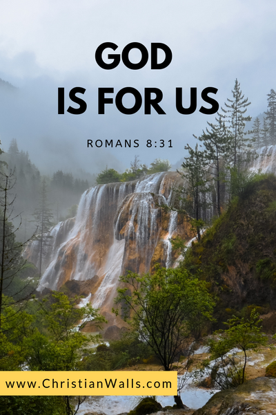 Romans 8 31 God is for us picture print poster bible verse