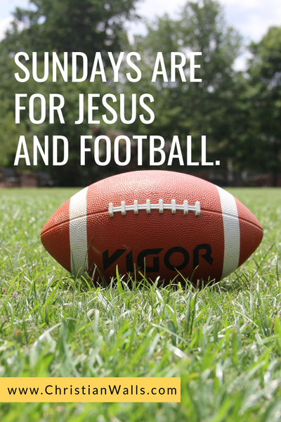 Sundays are for Jesus and football picture print poster christian quote