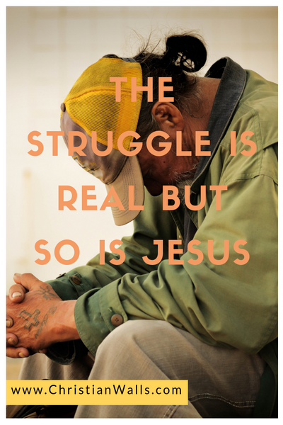The struggle is real but so is Jesus picture print poster christian quote