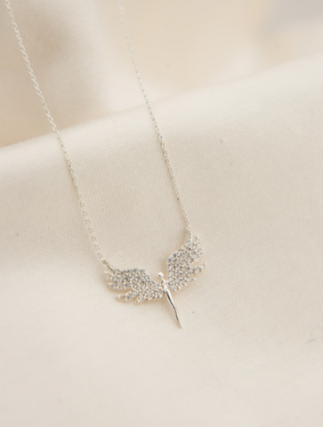 White Angel Necklace christian gifts for grandma