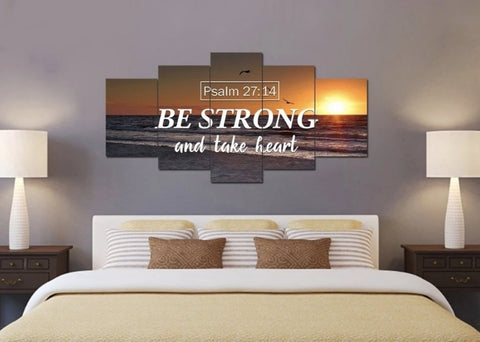be strong and take heart canvas