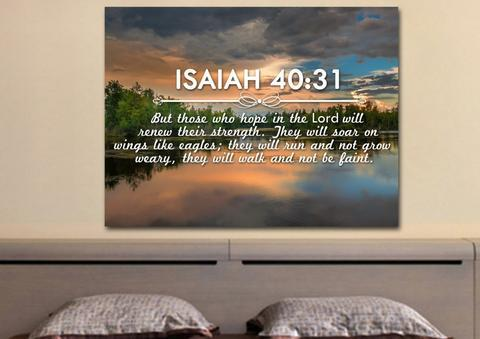 Isaiah 40:31 tells you that trusting in God's timing will make you stronger