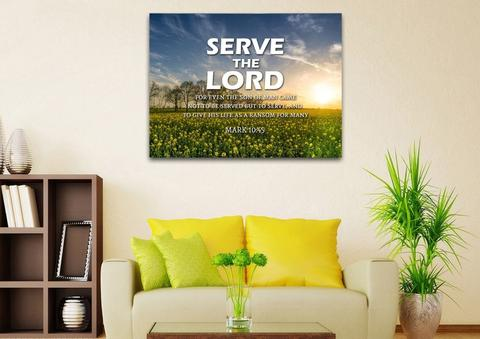 serve the lord wall art